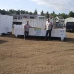 San Diego Lowboy Dumpster Rentals - 2 ft. tall x 16 ft. long