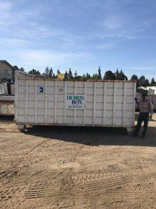Dumpster Rentals for short driveway 18ft x 8ft x 16ft